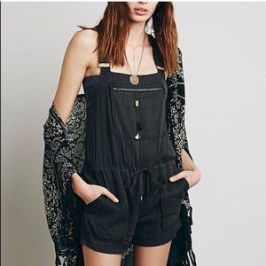 Free People Drawstring Short Alls